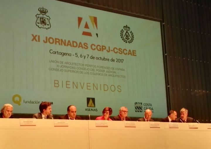 La presidenta de la Asamblea, Rosa Peñalver, ha inaugurado las XI Jornadas entre CGPJ-CSCAE