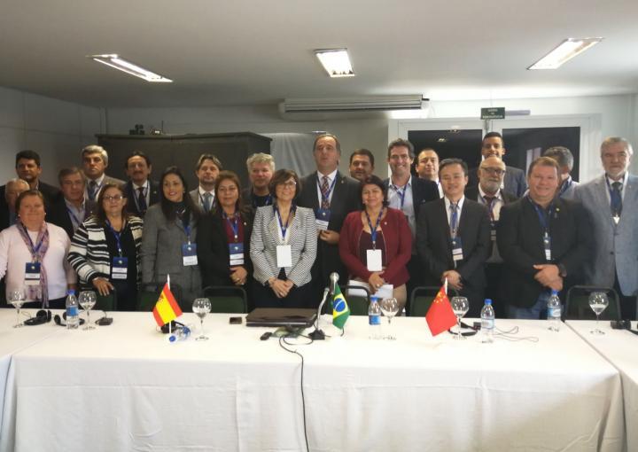 La presidenta de la Asamblea Regional, Rosa Peñalver, participa en la Conferencia de Estados Legislativos celebrada en Brasil, en representación de los 74 parlamentos regionales de Europa, CALRE