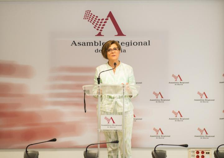La presienta de la Asamblea, Rosa Peñalver, ha hecho balance del segundo año de la IX Legislatura