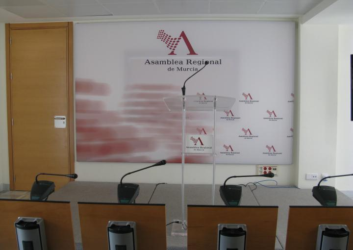 Sala de prensa de la Asamblea Regional de Murcia