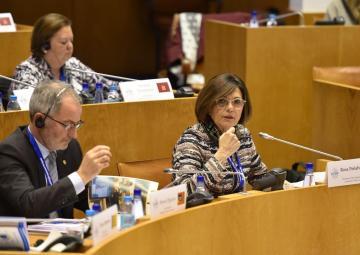 La presidenta de la Asamblea Regional, Rosa Peñalver, interviene en la Conferencia de las Azores