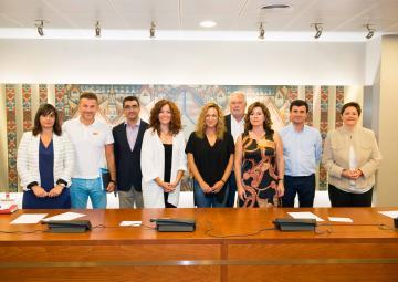 Los diputados y diputadas miembros de la Comisión especial de  Discriminación y Violencia de Género, el día de la constitución de la Comisión