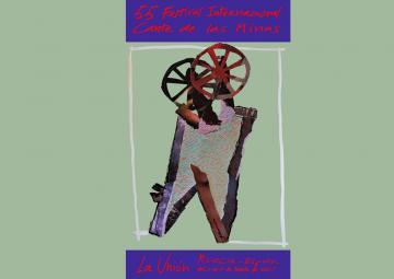 Cartel oficial de la LV edición del Festival Internacional del Cante de las Minas