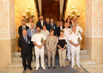 Diputados regionales visitan dependencias de las Fuerzas Armadas en Cartagena
