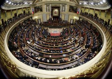 Acto conmemorativo del 40 Aniversario de la Constitución, celebrado en el Congreso de los Diputados, y presidido por los Reyes de España