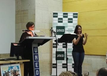 La presidenta de la Asamblea Regional, Rosa Peñalver, inicia la lectura continuada de 'El Quijote'