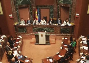 Sesión plenaria de la Asamblea Regional de Murcia en la que se aprobó por unanimidad la eliminación de los aforamientos