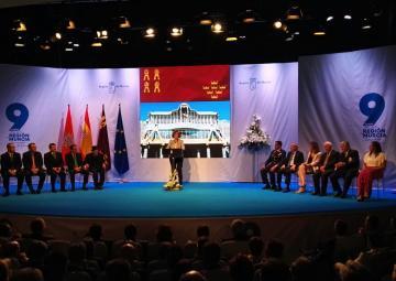 La presidenta de la Asamblea Regional, Rosa Peñalver, durante su discurso