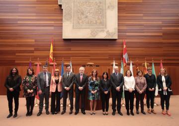 La presidenta de la Cámara, Rosa Peñalver, participa en la reunión de Presidentes y Presidentas de Parlamentos Autonómicos, Coprepa, que acoges las Cortes de Castilla y León