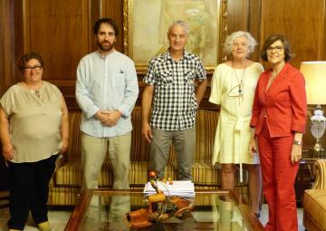 La presidenta de la Asamblea ha recibido a la Plataforma de Organizaciones de la Infancia de la Región de Murcia