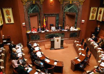 El secretario primero de la Cámara lee la declaración institucional contra las manifestaciones machistas de representantes públicos