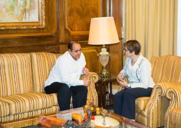 La presidenta de la Asamblea ha recibido a Mohamed Labat, delegado saharaui en Murcia durante cinco años