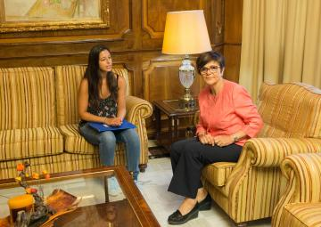 Rosa Peñalver ha recibido a Cristina Marín