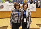 La presidenta de la Asamblea Regional, Rosa Peñalver, con la presidenta CALRE 2019, Donatella Prozi