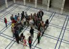 Alumnos de los colegios Nueva Escuela, de Fuente Álamo, y Adoratrices, de Cartagena