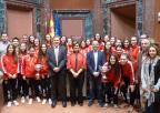 uestras CAMPEONAS de España Sub-17 y Sub-21 de fútbol sala RECIBIDAS por Rosa Peñalver en la