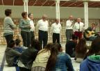 """Alumnos del CEIP Nuestra Señora de la Asunción reciben una lección magistral sobre el trovo de la Asociación """"José María Marín"""""""