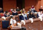 Alumnos y alumnas del Colegio de Educación Infantil y Primaria Severo Ochoa, de San Javier