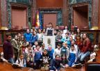 Alumnos y alumnas del CEIP Alfonso X El Sabio, de La Unión