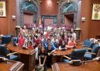 Alumnos y alumnas del CEIP El Alba, de Yecla