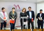 Ascensión Ludeña López, Emilio Ivars Ferrer, Presentación López Piñero, Antonio Guillamón Insa y Jesús Navarro Jiménez, diputados del Grupo Parlamentario Socialista