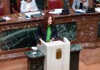 Angeles Navarro, diputada de Podemos, defiende una moción sobre medidas en relación con la interrupción voluntaria del embarazo