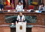 Consuelo Cano, diputada socialista, durante el debate de la moción sobre medidas en relación con la interrupción voluntaria del embarazo