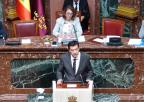 Juan José Molina, diputado de Ciudadanos, durante el debate de la moción sobre medidas en relación con la interrupción voluntaria del embarazo