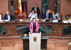 Patricia Fernández, diputada popular, durante el debate de la moción sobre medidas en relación con la interrupción voluntaria del embarazo