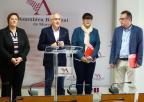 Alfonso Martínez Baños, Presentación López Piñero, Yolanda Fernández Sánchez y Ángel Rafael Martínez Lorente, diputados del Grupo Parlamentario Socialista