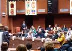 Integrantes de UMAY-UPCT Cartagena, en su visita a la Asamblea