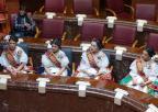 La presidenta de la Asamblea recibe a la Reina de la Huerta 2019 y su Corte
