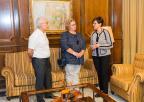 La directora y el secretario de UNED Cartagena han visitado esta mañana a Rosa Peñalver